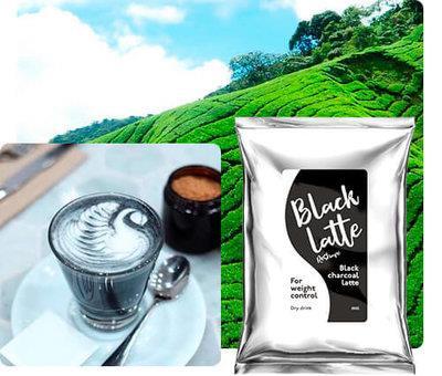 Black charcoal latte – kapky – akční – krém